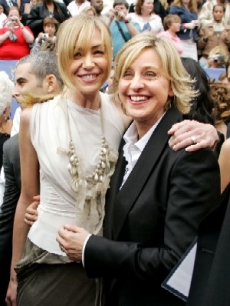 Ellen DeGeneres and partner, Portia de Rossi, at Daytime Emmys