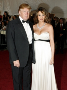 Donald Trump and wife, Melania