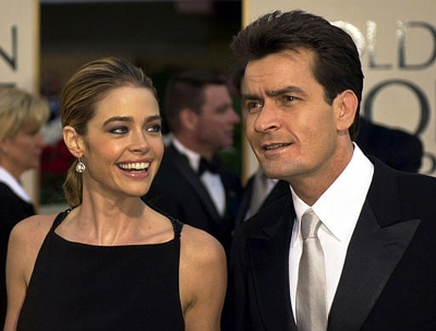 Denise and Charlie at the 2002 Golden Globes