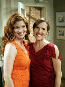 Debra Messing and Molly Shannon