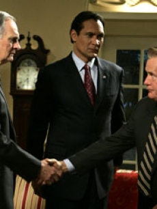west wing - martin sheen, jimmy smits, alan alda