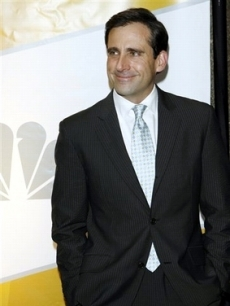 Steve Carell hangs at an NBC event