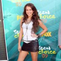 Miley Cyrus shows off her rock star style at the Teen Choice Awards at the Gibson Amphitheatre in Universal City, Calif., on August 9, 2009