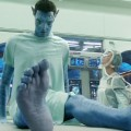 Jake (Sam Worthington) tries out his new body in &#8216;Avatar&#8217;