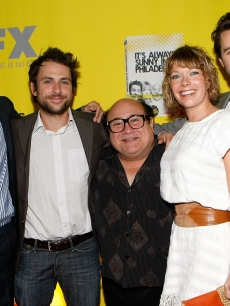 Glenn Howerton, Charlie Day, Danny DeVito, Mary Elizabeth Ellis and Rob McElhenney at the Season 4 premiere of 'It's Always Sunny In Philadelphia'