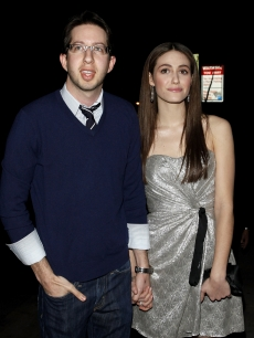 Emmy Rossum and Justin Siegel spotted on Sunset Blvd on March 28, 2009 in Hollywood, California