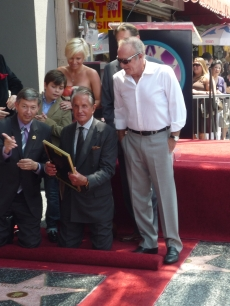 George Hamilton is honored with a star on the Walk of Fame in Hollywood, August 12, 2009