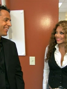 Tony Potts and La Toya Jackson at AIDS Project LA on Aug. 13, 2009