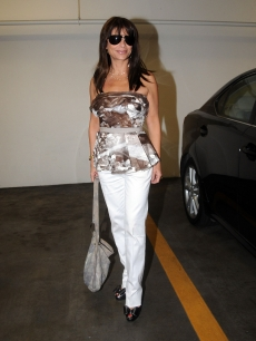 Paula Abdul spotted at a medical building on August 13, 2009 in Los Angeles, California
