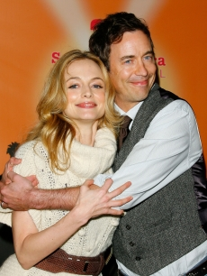 Heather Graham and Tom Cavanagh pose for photographers at the screening of &#8216;Gray Matters&#8217; held at the 22nd Santa Barbara International Film festival&#8217;s historic Arlington Theater in Santa Barbara, Calif. on February 4, 2007 