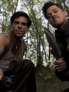 "Eli Roth and Brad Pitt in ""Inglourious Basterds"""