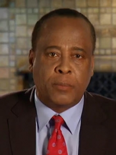 Dr. Conrad Murray addresses his supporters in a YouTube clip, August 18, 2009