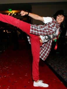 Booboo Stewart arrives at the 2007 Hollywood's Santa Parade on November 25, 2007 in Hollywood, California