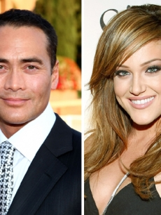 Mark Dacascos from Food Network is dancing with Lacey Schwimmer