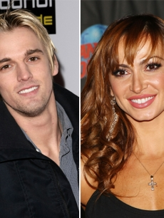 Aaron Carter is dancing with Karina Smirnoff