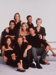 left to right) John Haynnes Newton, Kelly Rutherford, Rob Estes, Heather Locklear, Jack Wagner, Jamie Luner, Josie Bisset, Michael Calabro