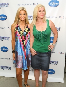 Denise Richards and Alison Sweeney share a moment at Myzos Presents the Official Launch of New Disney &amp; Muppet Myzos at Fred Segal in Santa Monica, Calif. on August 22, 2009