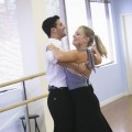 Mark Ballas and Melissa Joan Hart practice for &#8216;DWTS,&#8217; Aug. 2009