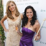 Supermodel Miranda Kerr and Melissa Rycroft at the launch of 'Heavenly Enchanted' by Victoria's Secret Beauty at the Grove on August 26, 2009 in Los Angeles