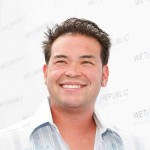 Jon Gosselin smiles while hosting a pool party at Wet Republic at the MGM Grand in Las Vegas on August 29, 2009