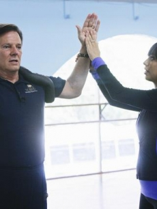 Tom DeLay and Cheryl Burke rehearse for 'DWTS,' Aug. 2009