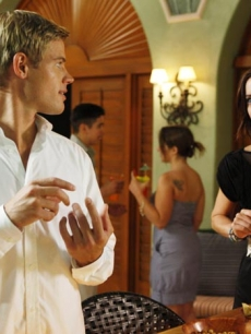 Trevor Donovan as Teddy and Jessica Stroup as Silver on &#8216;90210&#8217;