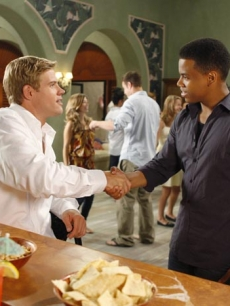 Trevor Donovan as Teddy and Tristan Wilds as Dixon on '90210' Season 2
