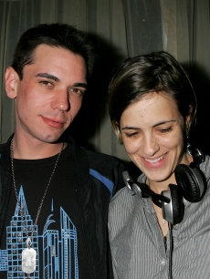 DJ AM and Samantha Ronson rock the party at the William Morris Agency Grammy Party in Beverly Hills on February 8, 2006