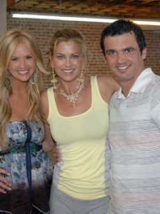 Nancy O'Dell, Kathy Ireland and Tony Dovolani