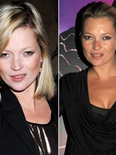 A porcelain pale and summer bronzed Kate Moss