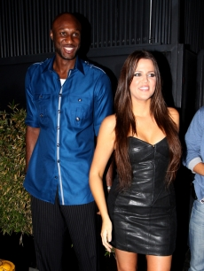 NBA star Lamar Odom and Khloe Kardashian spotted at STK restaurant in Beverly Hills on September 3, 2009