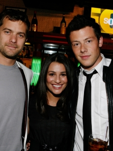 Joshua Jackson, Lea Michele and Cory Monteith attend Fox&#8217;s Upfront presentation at New York City Center in New York City on May 18, 2009 