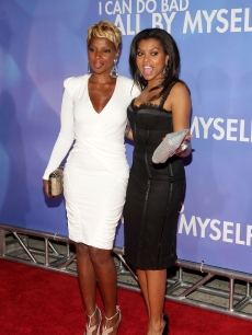Mary J. Blige and Taraji P. Henson attend the New York premiere of 'Tyler Perry's I Can Do Bad All By Myself' at the School of Visual Arts Theater on September 8, 2009