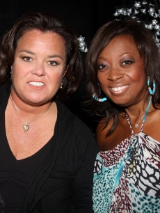 Rosie O'Donnell and Star Jones pose at the 2009 Passing It On Gala to benefit Rosie's Broadway Kids at the New World Stages, NYC, April 27, 2009