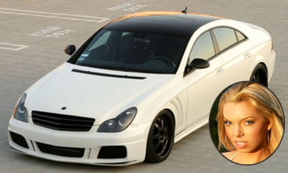 Jasmine Fiore's Mercedes CL S550, which authorities are looking for following the ex-model's death