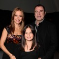 Kelly Preston, Ella Bleu Travolta and John Travolta at Walt Disney Pictures Presentation at Disney&#8217;s D23 Expo
