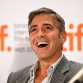 George Clooney laughs it up at the 'Up In The Air' press conference at the 2009 Toronto International Film Festival in Toronto, Canada on September 12, 2009