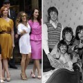 The ladies of 'Sex and The City 2' in 2009 and The Beatles in 1967