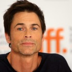 Rob Lowe speaks onstage at the 'Invention Of Lying' press conference for the Toronto International Film Festival held at the Scotiabank Theatre in Toronto, Canada on September 14, 2009