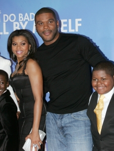 Tyler Perry, Mary J. Blige, Taraji P. Henson at the premiere of &#8220;I Can Do Bad All By Myself&#8221;