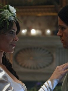 Michelle Forbes and Ryan Kwanten in a scene from 'True Blood's' Season 2 finale, 2009