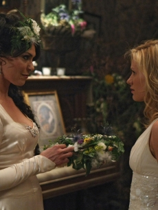 Michelle Forbes and Anna Paquin in a scene from 'True Blood's' Season 2 finale, 2009