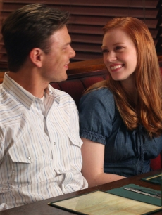 Jim Parrack, Deborah Ann Woll in 'True Blood' Season 2