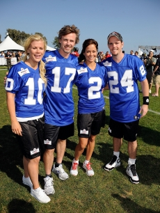 Alison Sweeney, Sam Trammell, Brooke Burke and Kevin Dillon pose at the Madden NFL 10 Pigskiin Pro-Am on Xbox 360 event, Malibu, July 24, 2009