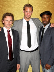 Sam Trammell, Alexander Skarsgard and Nelsan Ellis arrive at the 25th Annual Television Critics Association Awards held at The Langham Huntington Hotel & Spa, Pasadena, August 1, 2009