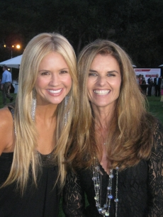 Access&#8217; Nancy O&#8217;Dell and California First Lady Maria Shriver at her reception the night before the Audi Best Buddies Challenge - Hearst Castle bike ride on September 11, 2009