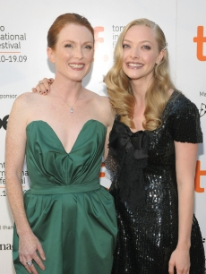Julianne Moore and Amanda Seyfried step out at the 'Chloe' at the 2009 Toronto International Film Festival on September 13, 2009