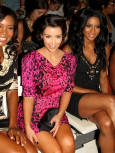 Gabrielle Union, Kim Kardashian, Ciara and Kelly Rowland attend the Tracy Reese Spring 2010 fashion show at the Salon at Bryant Park  in New York City on September 14, 2009