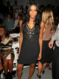 Ciara attends the Tracy Reese Spring 2010 fashion show at the Salon at Bryant Park in New York City on September 14, 2009