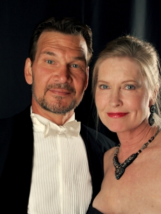 Patrick Swayze and wife Lisa Niemi pose backstage during the 9th annual Costume Designers Guild Awards held at the Beverly Wilshire Hotel on February 17, 2007